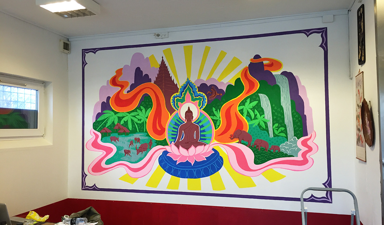 JodyPrody: Thai Cafe Mural