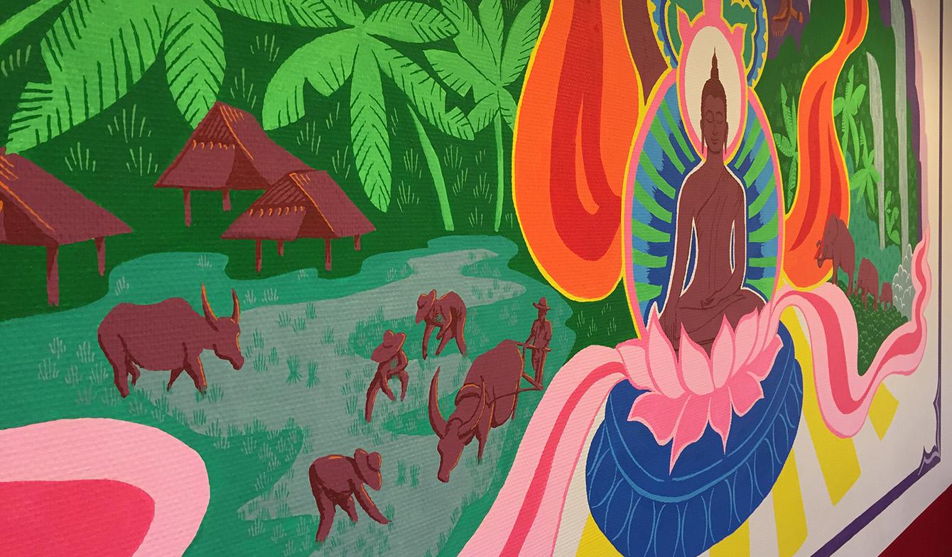 JodyPrody: Thai Cafe Mural